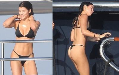 Bồ cũ Justin Bieber khoe body bốc lửa hết chỗ chê khi đi hẹn hò với chàng rể nhà Kardashian
