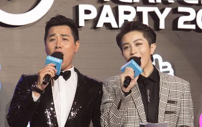 """MC Nguyên Khang khiến sự kiện bật cười khi nhắc Ngô Kiến Huy: """"Nếu cầu hôn Khổng Tú Quỳnh thì nói trước để không cắt nhầm sóng trực tiếp"""""""