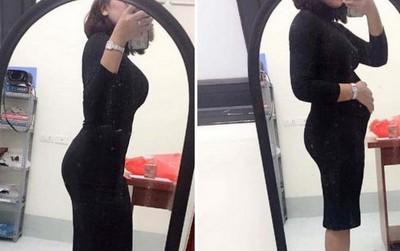 Cô gái gây sốc khi đăng ảnh vòng 2: Lúc phẳng lì như người mẫu, lúc lại trông như có bầu