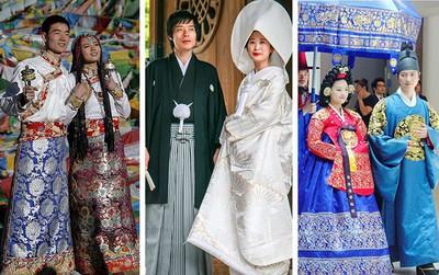 Người hiểu biết nhìn váy cưới truyền thống sẽ đoán ra được tên 8 quốc gia này