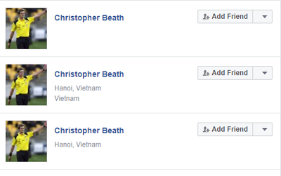 Xuất hiện nhiều tài khoản Facebook giả mạo trọng tài bắt trận U23 Việt Nam và Iraq để kích động, câu like