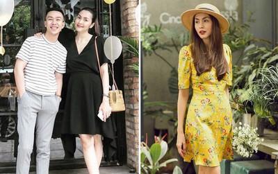 Trước khi vướng nghi vấn mang bầu lần 3, Hà Tăng đẹp rạng ngời diện váy hoa dạo phố