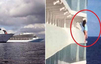 """Mạo hiểm trèo lên lan can chụp ảnh """"sống ảo"""", nữ du khách cay đắng nhận án phạt cả đời không được đi du thuyền"""