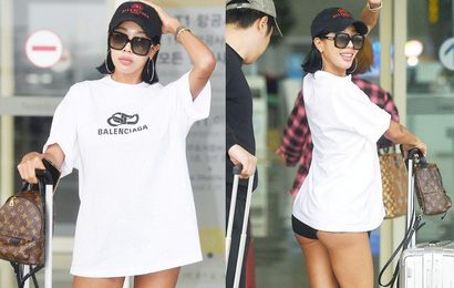 """Vbiz có Ngọc Trinh, Kbiz còn sốc hơn vì màn diện quần trong lồ lộ vòng 3 """"nhức mắt"""" của sao nữ Kpop tại sân bay"""