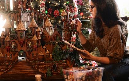 Lâu đài bánh quy ngon tuyệt chào mừng Giáng Sinh