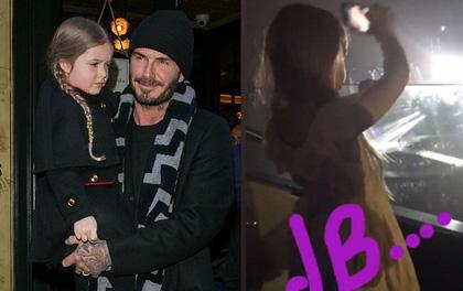 Beckham chia sẻ khoảnh khắc đáng yêu khi Harper cũng mê mẩn Justin Bieber