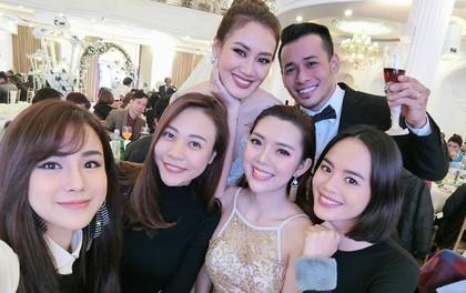 Bạn gái Cường Đô La, Diệp Lâm Anh rạng rỡ đến chúc mừng đám cưới của stylist Pông Chuẩn