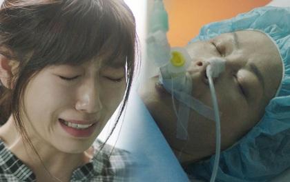 Park Shin Hye trở về từ Maldives, bật khóc trước di hài cố diễn viên Kim Young Ae