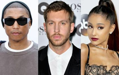 """""""Vừa thổi vừa nghe"""" bản hit hợp tác của Calvin Harris, Ariana Grande và Pharrell"""