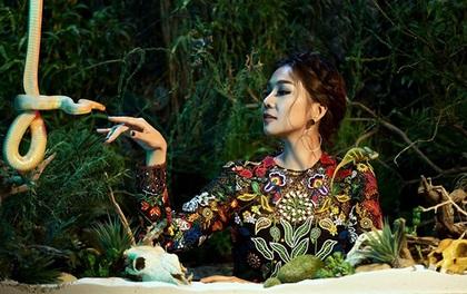 Thanh Hằng diện đầm xẻ quyến rũ nhận giải thưởng Giám khảo TVShow của năm