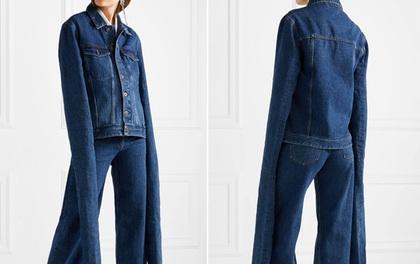 Nếu không muốn vừa mặc áo vừa quét nhà, bạn đừng mua chiếc áo denim giá 13 triệu này nhé!