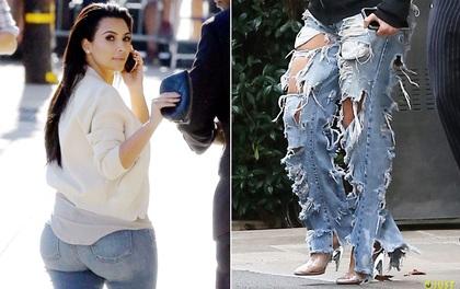 """Kim Kardashian có cả một tủ những chiếc quần jeans """"trời hành"""""""