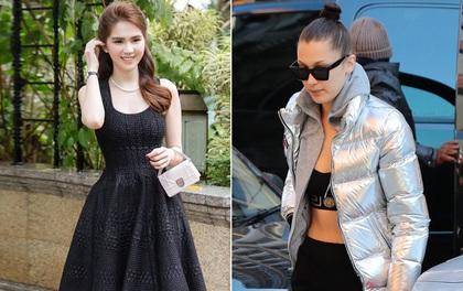 """Ngọc Trinh """"gây mê"""" với vẻ ngoài xinh như búp bê, Bella Hadid diện áo phao mà vẫn cố hở"""