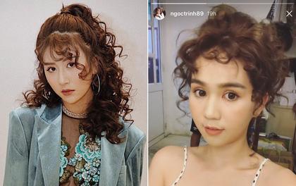 Để tóc xoăn tít như Quỳnh Anh Shyn, trông Ngọc Trinh lạ lẫm ra phết!