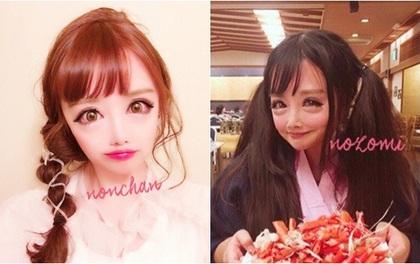 """Cô gái được mệnh danh """"người đẹp anime Nhật Bản"""": Sự kết hợp kinh dị giữa công nghệ thẩm mỹ, hóa trang và photoshop"""