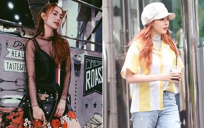 """Minh Hằng & HyunA """"đọ"""" trình mix đồ xuyên thấu cho street style, ai đẹp hơn?"""