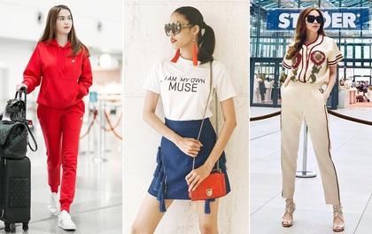 Lan Khuê khoe street style liên tục trước The Face, Hà Hồ & Ngọc Trinh sáng bừng ở sân bay