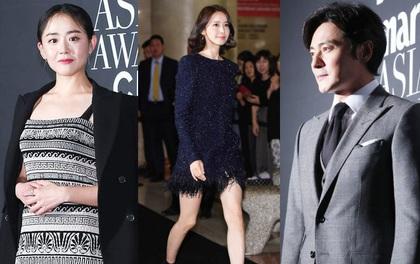 """Thảm đỏ LHP Busan: Yoona lộ chân gầy như sắp gãy, Moon Geun Young dọa fan, sao nhí """"Dream High"""" lột xác"""
