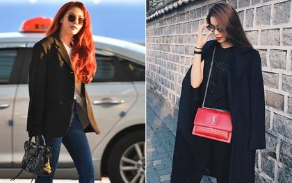 """Phạm Hương phô diễn street style đầu tiên tại Seoul, HyunA """"đụng"""" túi hiệu với Châu Bùi"""