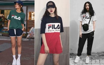 Giới trẻ châu Á người người nhà nhà đang diện T-shirt và sneaker Fila chất phát ngất ra sao?