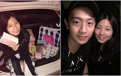 """""""Bạn trai nhà người ta"""" tặng cả cốp ô tô quà cho người yêu nhân dịp sinh nhật"""
