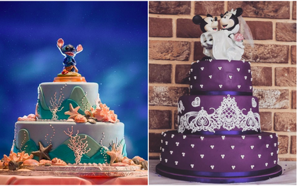 15 mẫu bánh cưới cảm hứng từ phim hoạt hình Disney