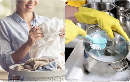 """Tin """"mừng"""": Chăm rửa bát, giặt quần áo sẽ giúp phụ nữ sống thọ hơn"""