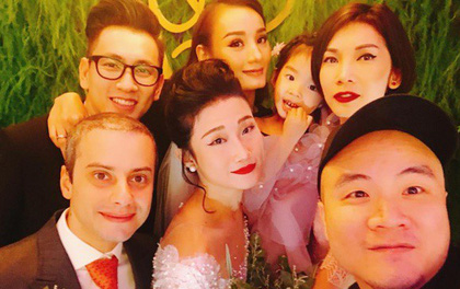 Vợ chồng Lê Thúy cùng Xuân Lan rạng rỡ tham dự đám cưới của Kha Mỹ Vân và chồng Tây