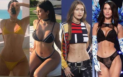 Cuộc chiến body của chị em Kendall - Kylie và Gigi - Bella: Bụng không chỉ phẳng lỳ mà còn phải có cơ bắp sexy