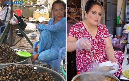 """""""Chết cười"""" với bộ ảnh chế Adele bán bún bò, Miley đi bán ốc nếu về Việt Nam sống"""