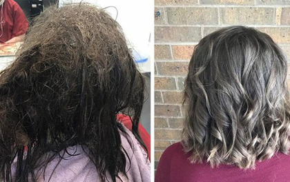 """Cô gái trầm cảm tới tiệm để cạo mái tóc tổ chim, cuối cùng được """"trả hàng"""" bằng kiểu đầu không thể đẹp hơn"""