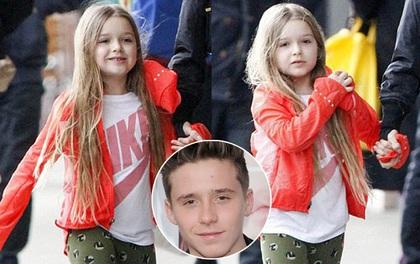 Harper Beckham xuất hiện xinh xắn, ngày càng giống hệt anh trai Brooklyn