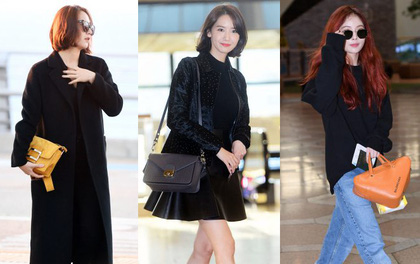 Màn đụng độ hiếm hoi của Yoona, Krystal và Hyuna: Sang chảnh hết nấc, biến luôn sân bay thành thảm đỏ
