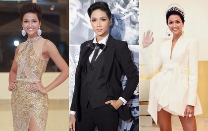 Từ sau khi đăng quang, Hoa hậu H'Hen Niê rất chăm chỉ thay đổi phong cách thời trang