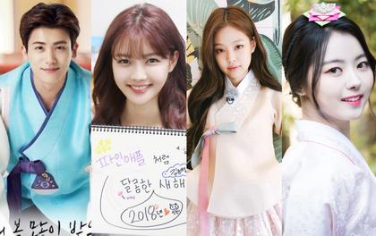 Sao Hàn đón Tết: Idol thi nhau diện hanbok lung linh, Park Shin Hye cùng dàn sao gửi lời chúc trên phim trường
