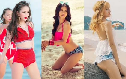 """Khi các mỹ nhân Vpop diện bikini, khoe eo thon dáng chuẩn trong MV khiến fan """"rụng rời"""""""