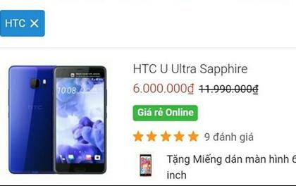 HTC U đang giảm giá cực mạnh: năm ngoái có giá gần 20 triệu, nay chỉ còn 3-6 triệu đồng