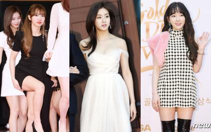 Thảm đỏ Golden Disc Awards: Bạn gái cũ Hyunbin trễ nải khoe ngực đầy bên Taeyeon diêm dúa, EXO và BTS đọ vẻ điển trai