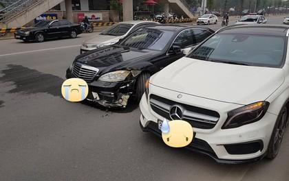 Hà Nội: 2 xe Mercedes thi thố tốc độ trên đường và cái kết đắng ngay sau đó