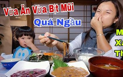 """Vẫn là Quỳnh Trần JP xuất sắc khi dám thử món mực thối lên men: bịt mũi mà ăn vẫn """"ngon lành cành đào"""" nhé!"""