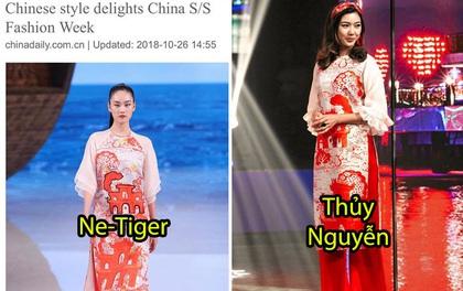 """Giữa lùm xùm mẫu áo dài bị """"copy"""", NTK Thủy Nguyễn khẳng định: """"Sản phẩm kia giống thiết kế gốc của tôi đến hơn 90%"""""""