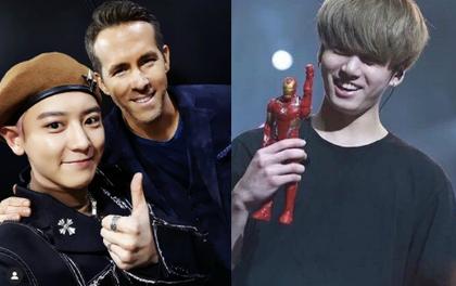 """2 idol cuồng phim siêu anh hùng nhất Kpop: Chanyeol (EXO) hớn hở gặp Deadpool, Jungkook (BTS) sụt sùi vì Iron Man """"bay màu"""""""