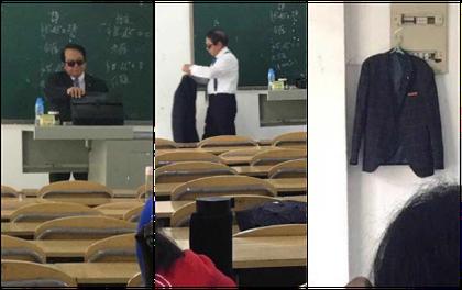 Thầy giáo đi dạy với combo kính đen và comple ngầu như điệp viên 007, nhưng hành động tiếp theo mới khiến cả lớp lăn ra cười
