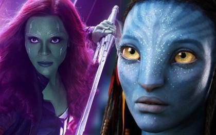 """Từ Avatar đến Endgame mới thấy cứ việc """"tạt thùng sơn xanh"""" lên cô đào """"Gamora"""" là doanh thu nghìn tỷ!"""