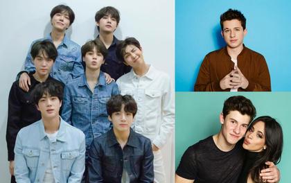 """BTS collab với nhiều nghệ sĩ quốc tế lắm rồi nhưng vẫn còn nguyên dàn sao Hollywood ngỏ lời """"xếp hàng"""" chờ tới lượt: Cặp đôi Shawn - Camila, Troye Sivan, Charlie Puth..."""