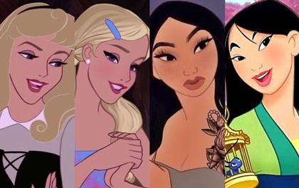 """Hội chị em Disney rủ nhau lột xác siêu ngầu: Aurora hóa """"bé đường"""" mộng mơ, Mulan xăm kín tay nhìn mà hú hồn!"""