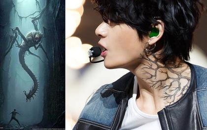 """Rùng mình với """"tha thu"""" của V: Vết cắn của quái thú trong """"Maze Runner"""", ngày càng lan rộng hiện thân cho bóng tối xâm lấn """"vũ trụ BTS""""?"""