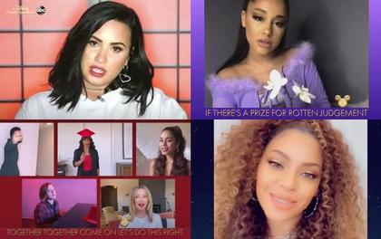 """Cả tuổi thơ ùa về khi nghe Ariana Grande, Beyoncé, Demi Lovato hát các bản nhạc phim Disney, dàn cast High School Musical mỗi người một nơi vẫn """"quẩy"""" nhiệt"""