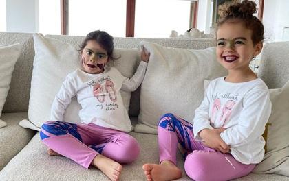 """Còn lâu mới đến Halloween nhưng 2 công chúa nhỏ nhà Ronaldo khiến dân tình phát """"hoảng"""""""