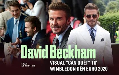 """David Beckham """"càn quét"""" từ Wimbledon đến Euro: Lên đồ biến sự kiện thành sàn diễn, visual đỉnh cao đè bẹp Tom Cruise - Ed Sheeran"""